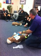 Life-saving Training at Local Junior Football Club