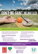 Don't be faint-hearted – get involved in SADS Awareness Week