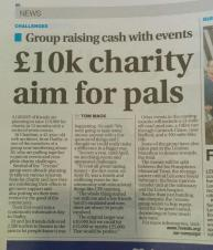 £10k Charity Aim for Pals