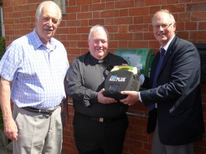 Wigston Magna Methodist Church Installs Community Defibrillator