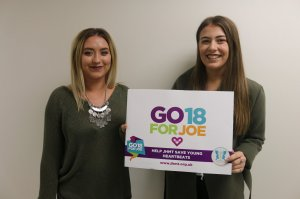 Niamh & Beth Launch GO18FORJOE & Help to Save Young Heartbeats