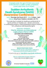 SADS Awareness Conference 2017 Will Again Put Sudden Heart Deaths in Young People Firmly on the Agenda for Doctors & Nurses