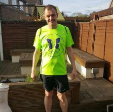 Nick Gets Ready to Run for the Joe Humphries Memorial Trust