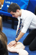 Skills For Life - De Lisle Students are all 'HANDS ON' with JHMT to learn CPR & how to use  AED