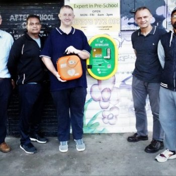 Defibrillator and training for St Matthews community marks SADS Awareness Week