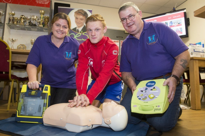 New defibrillator for city golf course