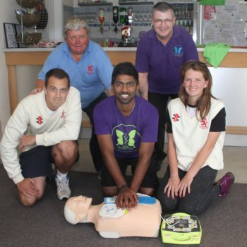 Cricketers in Loughborough have been learning vital life-saving skills