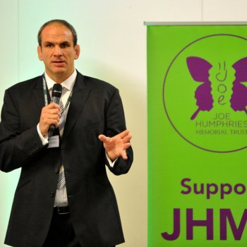 Trust Patron Martin Johnson talks to GPs about sudden cardiac death in young people